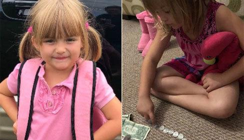 Bé gái 5 tuổi đập lợn lấy tiền mua sữa cho bạn học