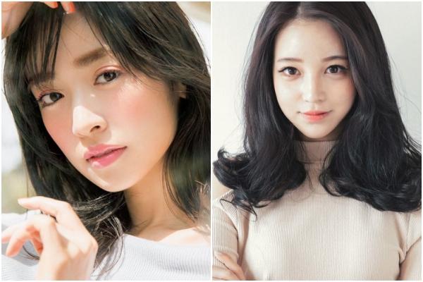 Khi sử dụng màu mắt, phụ nữ Nhật thường thoa màu tự nhiên ở phía trên bầu mắt trong khi phụ nữ Hàn lại thích vẽ bọng mắt lớn theo phong cách aegyosal.