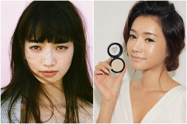 Phụ nữ Nhật thích lớp trang điểm nền lì, tự nhiên, không che phủ quá nhiều trong khi ở Hàn Quốc, kiểu trang điểm nền da căng bóng rất được ưa chuộng.