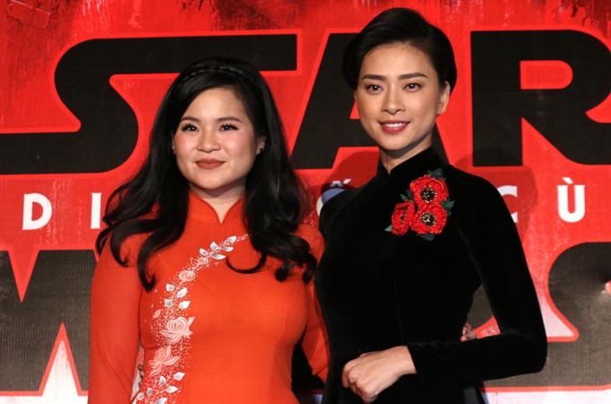 Ngô Thanh Vân bên diễn viên gốc Việt Kelly Maria Trần.