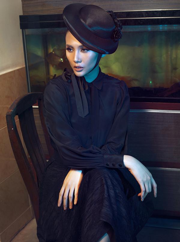 Võ Hoàng Yến hóa quý cô cổ điển cùng trang phục đen - ảnh 10