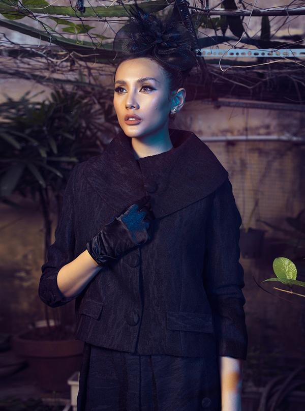 Võ Hoàng Yến hóa quý cô cổ điển cùng trang phục đen - ảnh 9