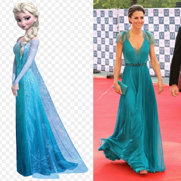 7 bộ cánh khiến công nương Kate y chang các nàng công chúa Disney - ảnh 7