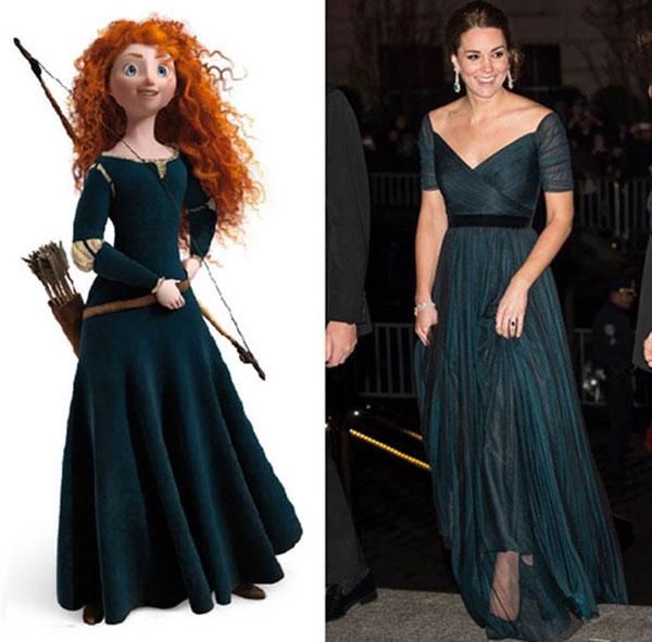 7 bộ cánh khiến công nương Kate y chang các nàng công chúa Disney - ảnh 4