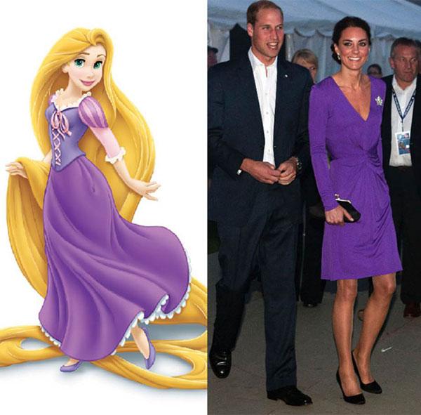 7 bộ cánh khiến công nương Kate y chang các nàng công chúa Disney - ảnh 5