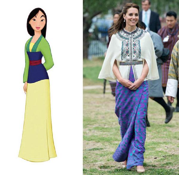 7 bộ cánh khiến công nương Kate y chang các nàng công chúa Disney - ảnh 3