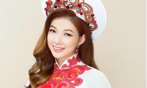 Phạm Thanh Thảo rạng rỡ với áo dài ngày vu quy