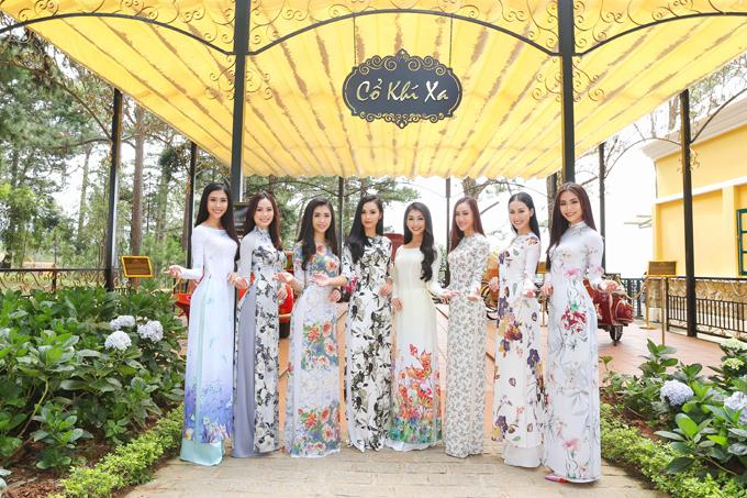 Ngoài ra, trong lịch trình ở Đà Lạt, các thí sinh có dịp đến tham quan Dinh 1  một địa điểm du lịch nổi tiếng của Đà Lạt. Trong trang phục áo dài, các ứng viên Hoa hậu Hoàn vũ Việt Nam thích thú khám quá cảnh đẹp tại nơi đây, với những đường nét kiến trúc cổ xưa giàu giá trị lịch sử.
