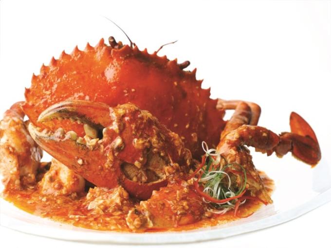 Món cua sốt ớt tại nhà hàng Jumbo Seafood, Số 2 Đồng Khởi, Q.1