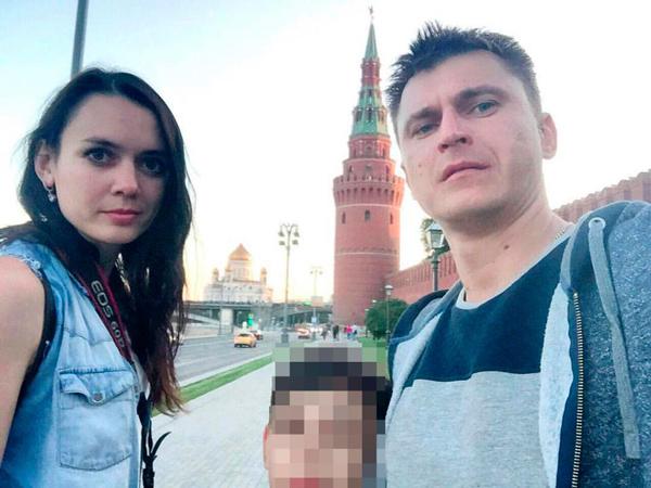Vợ chồng Zhanna và con trai. Ảnh: East2West News
