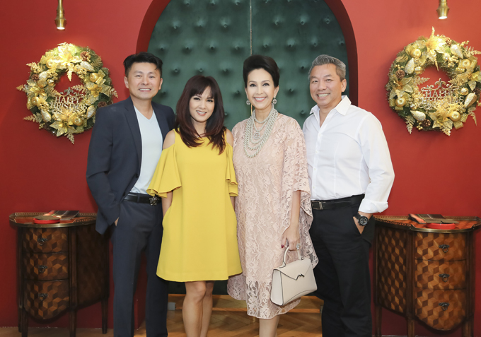 Đây là lần đầu vợ chồng Diễm My hội ngộ cả Kiều Khanh và bạn trai cô ở Sài Gòn.