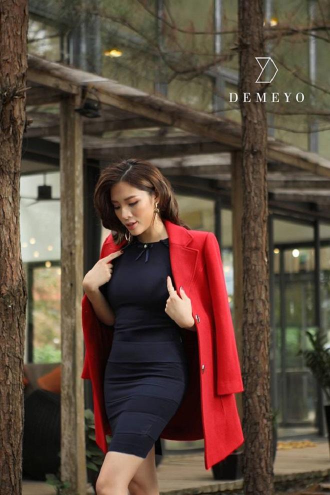 Hoa hậu Phan Hoàng Thu quyến rũ trong BST Winter in town của Demeyo - 1