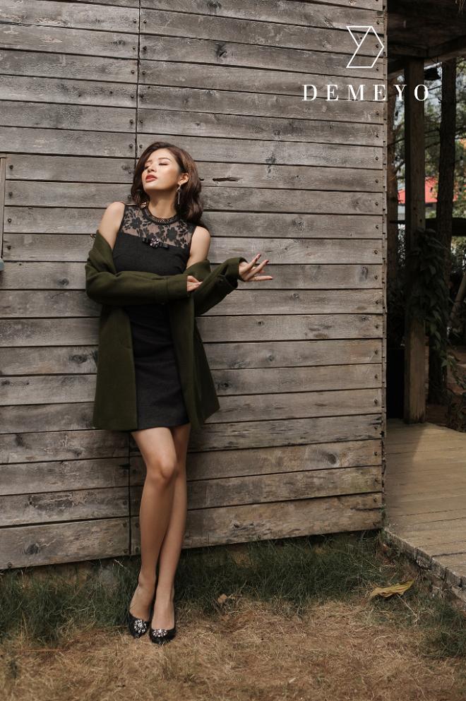 Hoa hậu Phan Hoàng Thu quyến rũ trong BST Winter in town của Demeyo - 2