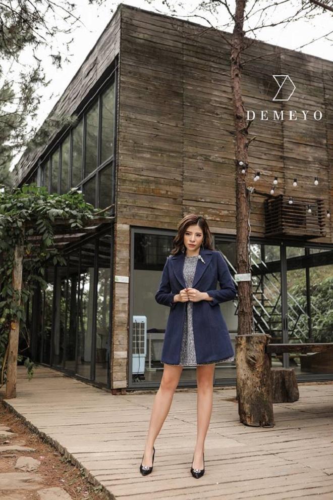Hoa hậu Phan Hoàng Thu quyến rũ trong BST Winter in town của Demeyo - 4