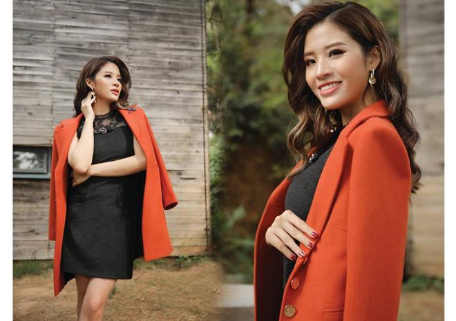 Hoa hậu Phan Hoàng Thu quyến rũ trong BST Winter in town của Demeyo - 5