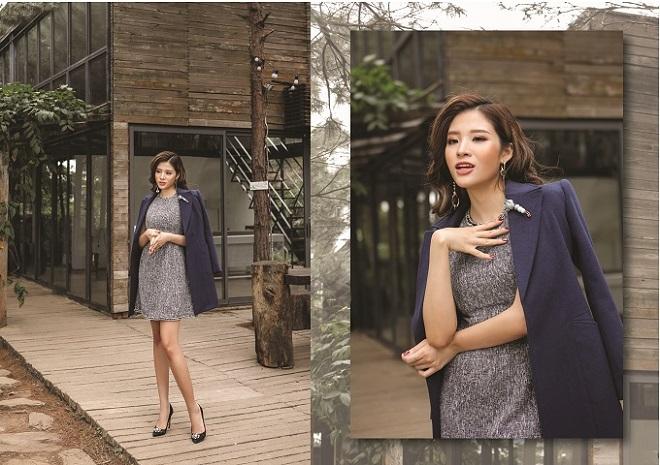 Hoa hậu Phan Hoàng Thu quyến rũ trong BST Winter in town của Demeyo - 7