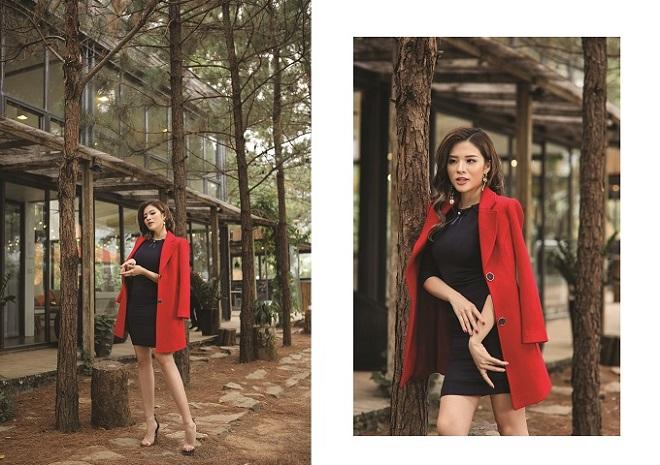 Hoa hậu Phan Hoàng Thu quyến rũ trong BST Winter in town của Demeyo - 11