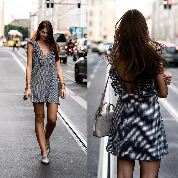 Mặc đẹp cùng cơn sốt váy ca rô - 10