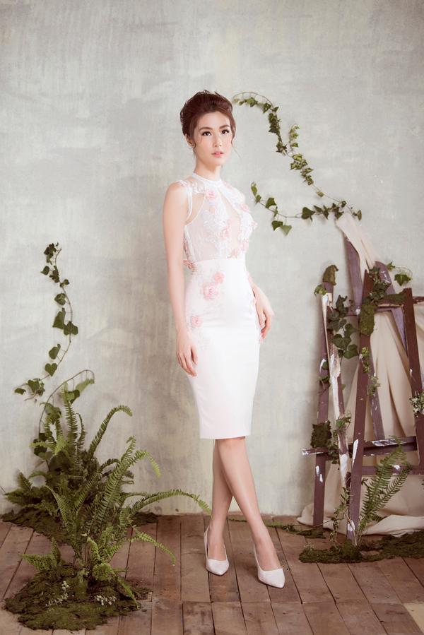 Diễm My 9x diện váy sang trọng thiết kế cùng Đỗ Long - 3