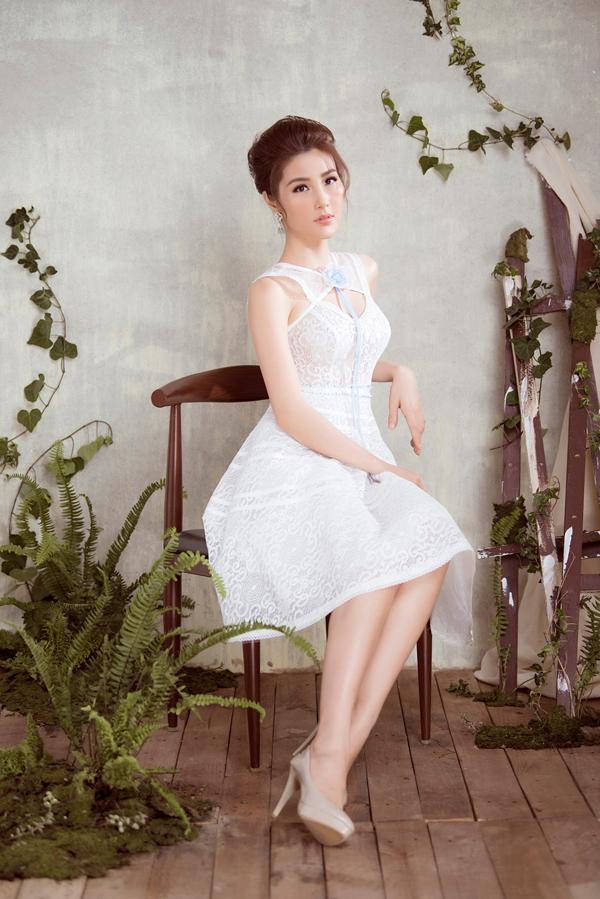Diễm My 9x diện váy sang trọng thiết kế cùng Đỗ Long - 5