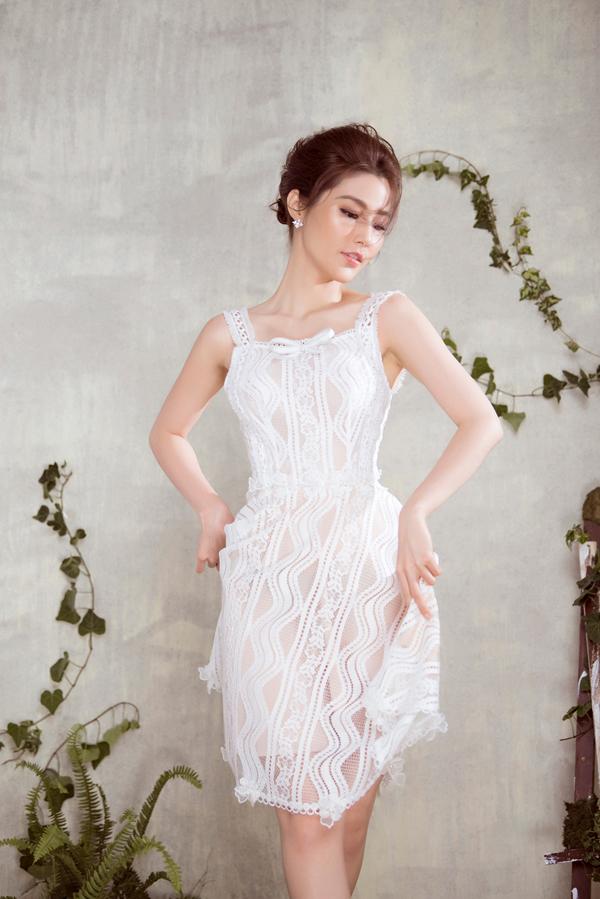 Diễm My 9x diện váy sang trọng thiết kế cùng Đỗ Long - 6