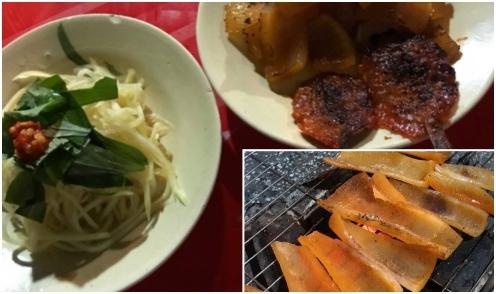 Bì heo nướng - món ăn vặt độc đáo ở Hà Tiên