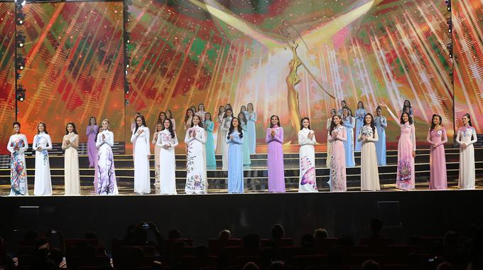 Top 15 thí sinh Hoa hậu Hoàn vũ Việt Nam 2017.