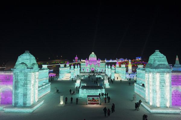 Lễ hội băng đăng lớn nhất thế giới khai trương ở Trung Quốc - 6