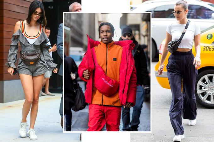 Kiểu túi nhỏ đeo chéo hoặc đeo ngang hông làm mưa làm gió nửa cuối năm 2017 sẽ tiếp tục khuấy đảo làng thời trang năm nay.