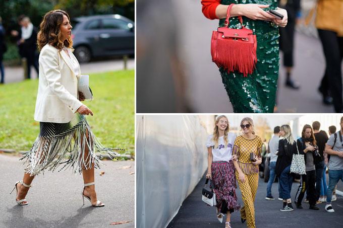 Xu hướng tua rua cũng đang trở lại và hứa hẹn sẽ lợi hại hơn xưa qua các BST của thương hiệu Calvin Klein, Dior, Loewe&