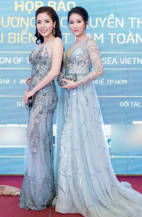 Á hậu 1 Hoa hậu biển Việt Nam 2016 Bảo Như cũng dự sự kiện này. Cô rất vui khi gặp lại Khánh Phương.