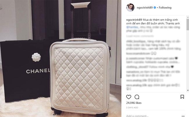 Ngọc Trinh chi 7.000 USD sắm vali Chanel