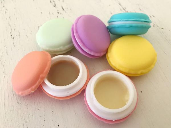 Macaron Lip Balm Natural Lip Balm Lip Gloss by MyRawBeauti