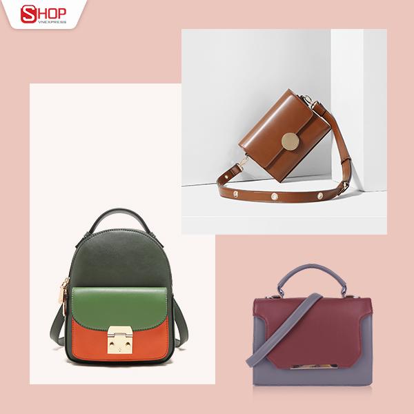 Với chút khéo léo kết hợp phụ kiện túi xách cùng trang phục, chị em sẽ tạo được nhiều phong cách khác nhau. Nếu yêu thích phong cách cổ điển, bạn có thể mix túi vuông cùng váy ren. Để cá tính hơn, bạn có thể kết hợp với túi giả ba lô nhỏ xinh.