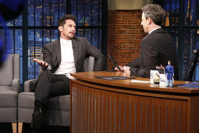 James phủ nhận mọi cáo buộc trong chương trình The Late Show hôm 9/1. Nam diễn viên khẳng định, anh luôn chịu trách nhiệm về mọi điều mình làm và nếu có mắc sai lầm, anh sẵn sàng sửa sai.