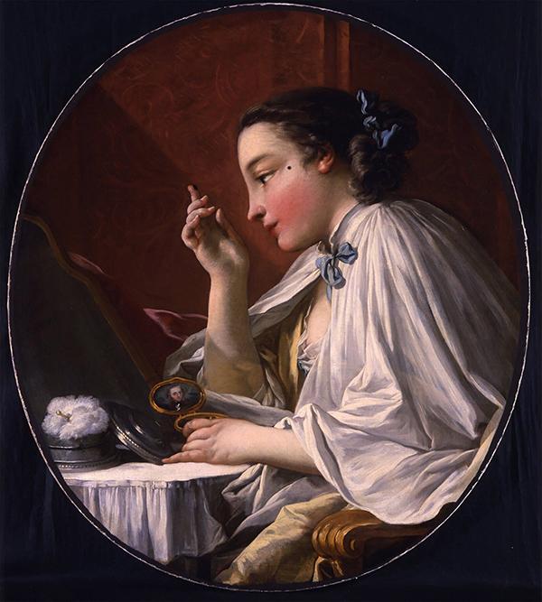 Gắn nốt ruồi lên mặt Phụ nữ thế kỷ 18 bắt đầu ưa chuộng trang điểm. Không chỉ thoa phấn, họ còn gắn thêm nốt ruồi giả lên mặt. Các nốt ruồi có nhiều hình thù khác nhau mang những ý nghĩa khác nhau. Nốt ruồi gần miệng tượng trưng cho thói trăng hoa, nốt ruồi bên má phải lại có nghĩa là người phụ nữ đó đã kết hôn.