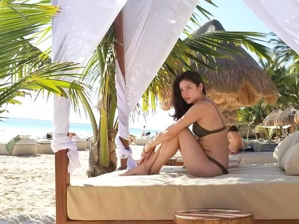 Vợ cũ Lê Minh nghỉ dưỡng ở Mexico. Ảnh: Instagram