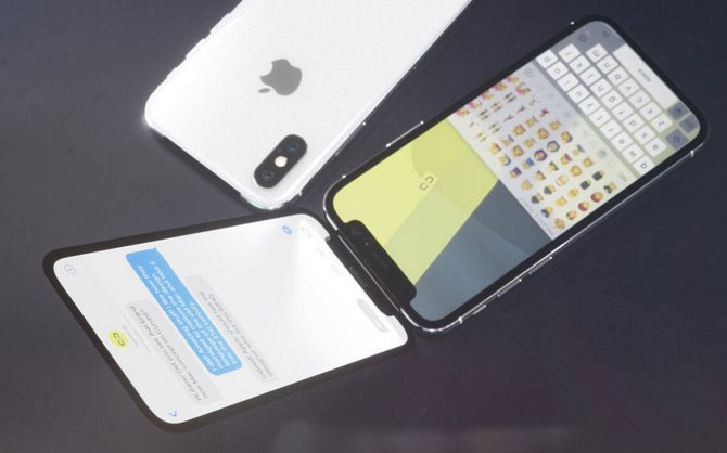 Màn hình chính của máy nằm ở bên trên. Lúc này, tai thỏchuyển xuống vị trí bản lề nên màn hình hiển thị bên trên vì thế cũng trọn vẹn hơn so với iPhone X.