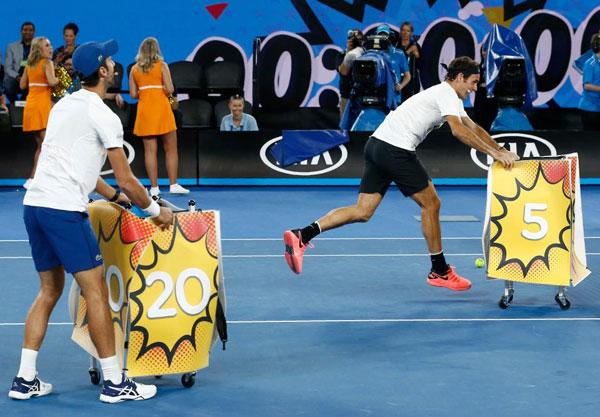Djokovic, Federer và Wozniacki so tài cùng biệt đội siêu anh hùng - 5