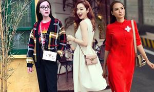 Người đẹp Việt 'sủng ái' túi đeo chéo nhỏ xinh khi dạo phố
