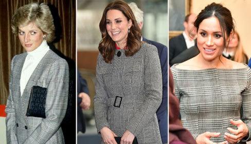 Thành viên Hoàng gia Anh chuộng váy áo họa tiết kẻ