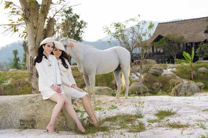 Người đẹp Lan Hương từng thi Hoa hậu Việt Nam 2016 đi chơi cùng Lệ Hằng.