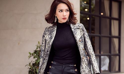 Ái Phương thử mix nhiều phong cách với áo khoác