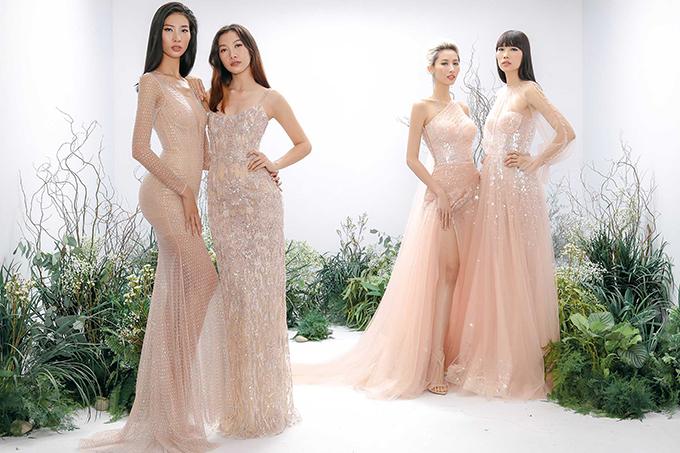 Váy dạ hội cắt may trên các chất liệu sequins, kim tuyến, metalic là dòng sản phẩm cao cấp và được Chung Thanh Phong đầu tư khá nhiều tâm huyết ở mùa này.