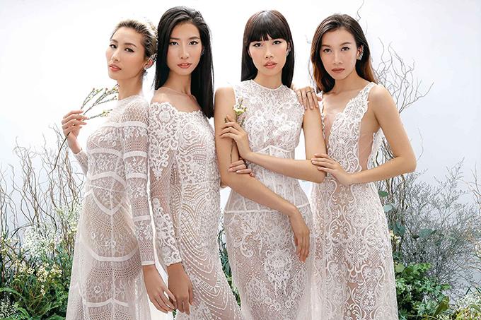 Các loại vải hoa ren cao cấp được chọn lọc và sử dụng để tạo nên nhiều mẫu váy mang tính ứng dụng cao, góp phần tôn nét gợi cảm cho người mặc.