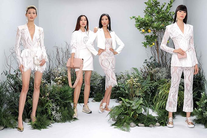 Từng tạo nên cơn sốt ren đối xứng ở mùa thời trang cũ, ở năm 2018 nhà mốt Việt tiếp tục lăng-xê chất liệu gợi cảm trong bộ sưu tập mới.