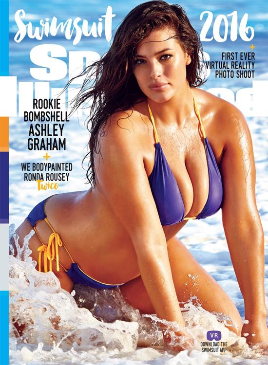 4. Tạo nên lịch sử khi trở thành người mẫu béo đầu tiên lên trang bìa Sports Illustrated Swimsuit Issue: Ashley hạnh phúc tâm sự khi lên trang bìa tạp chí áo tắm danh giá năm 2016: Đây là điều dành cho tất cả những người phụ nữ từng nghĩ rằng họ không đẹp vì cơ thể ngoại cỡ của họ.
