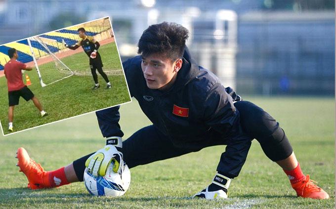 Tiến Dũng là vua bắt penalty ở giải U23 châu Á. Ảnh: NN.
