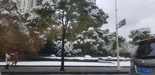 Tuyết rơi từ sớm, sân Thường Châu ngập tuyết dày đặc - 4