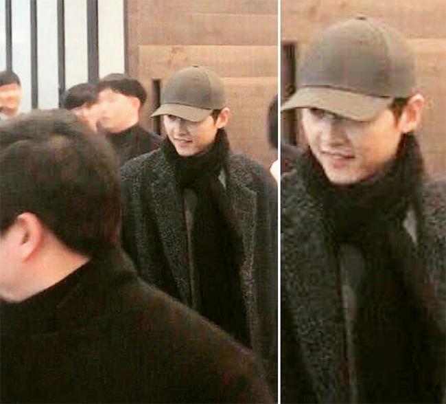Song Joong Ki đi tiệc hôm 4/2.